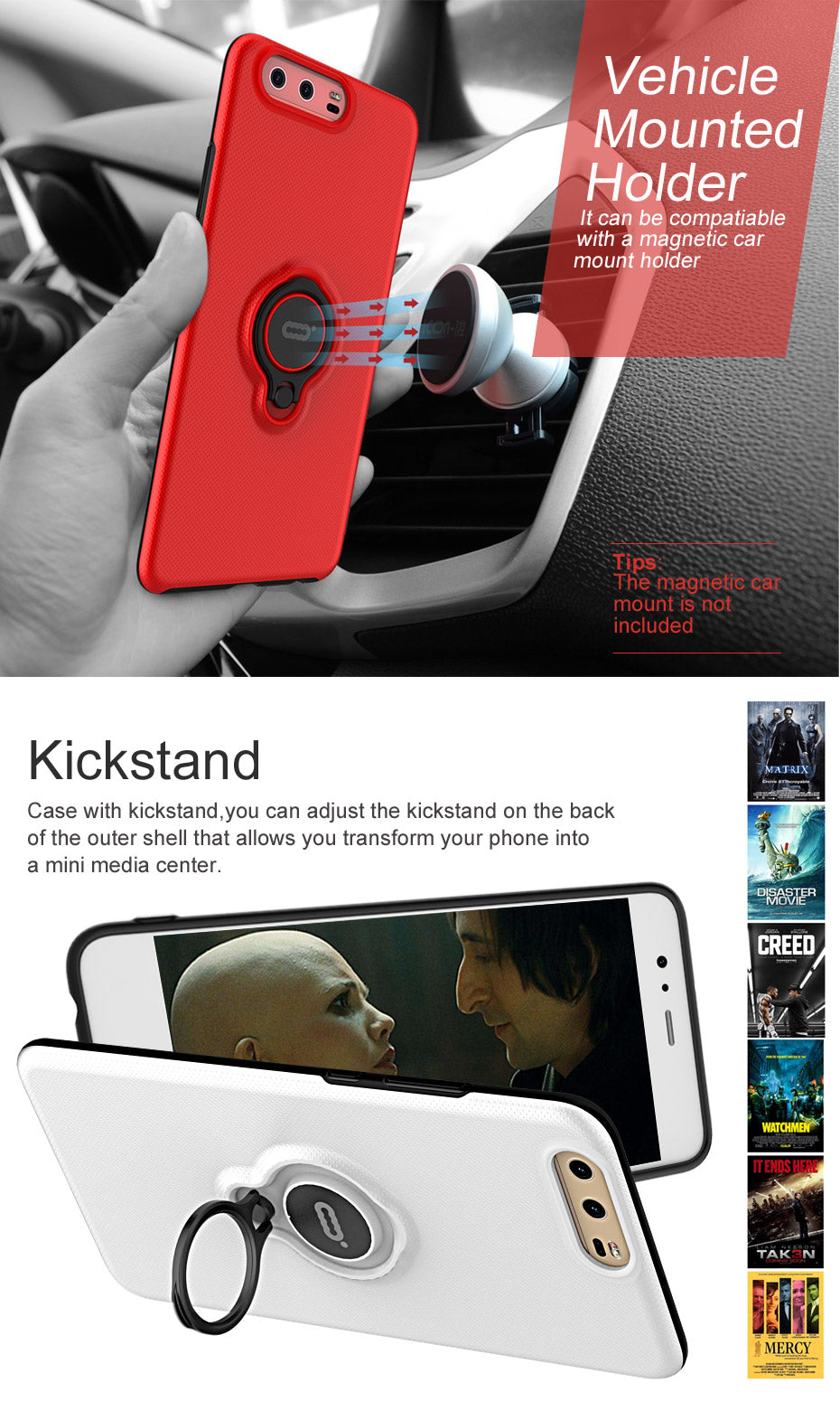 ICONFLANG New For HUAWEI P10 Case Cover HUAWEI P10 Plus Luxury Hard PC Ring Case Fashion Phone Cases HUAWEI P10