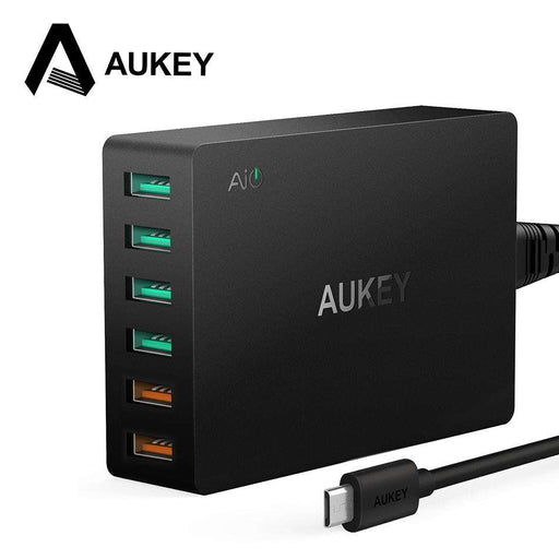 AUKEY Quick Charge 3.0 6-Port USB Hub - Gadget World