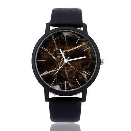 Marble Style Leather Quartz Watch - Gadget World