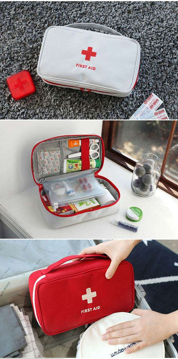 Large Medicine Bag Travel Outdoors Camping Pill Storage Bag First Aid Emergency Case Survival Kit - Gadget World