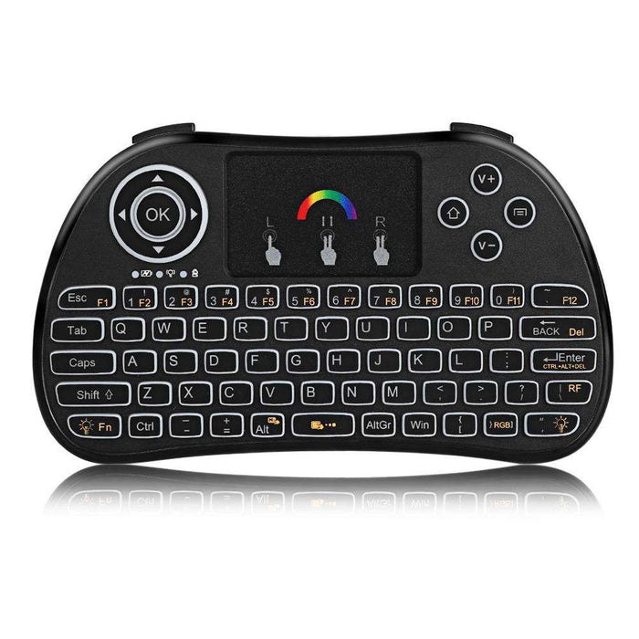 H9 Mini Wireless Keyboard 2.4GHz Air Mouse with Backlit Remote Control Touchpad for Android TV Box Smart TV - Gadget World