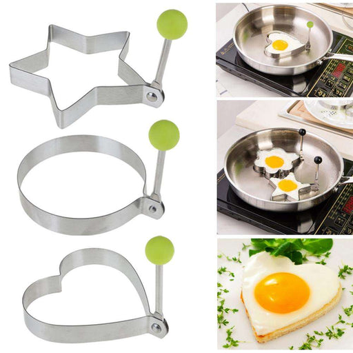 Creative Stainless Steel Omelette Egg Frying Mold Love Round Star Molds - Gadget World