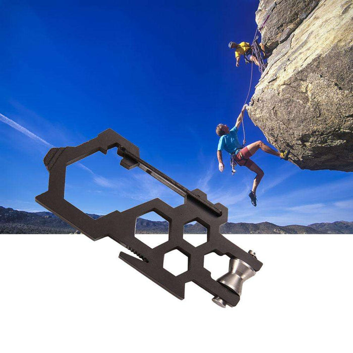 Multifunctional EDC Para-Biner Pulley System High Tensile Stainless Steel Carabiner Opener Multi-Tool Climbing Accessories New - Gadget World