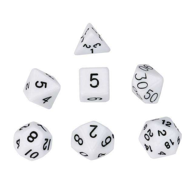 Multi Sided Dices 7Pcs Pearl Grain Set - Gadget World