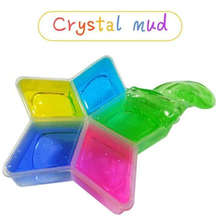 Plasticine 5 Pcs/lot Colorful Clay Slime DIY Non-toxic Crystal Mud - Gadget World