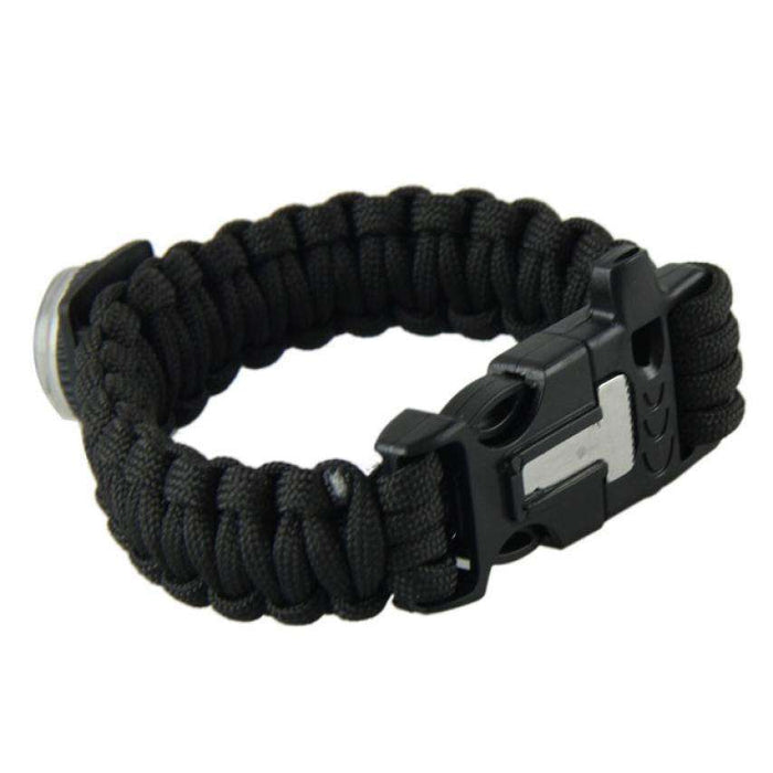 Outdoor Camping Bracelets For Men Women Parachute Rope Clasp Survival Bracelet Homme Handmade Braided 2 Colors - Gadget World