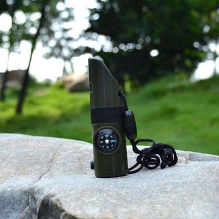 Compass Thermometer Flashlight Magnifier Multi-Tool for Outdoor Camping - Gadget World