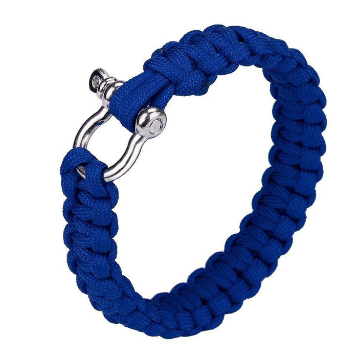 Pocket Tools Parachute Cord Wristband Paracord Survival Bracelet With Zinc Alloy Bow Shackle Rope - Gadget World