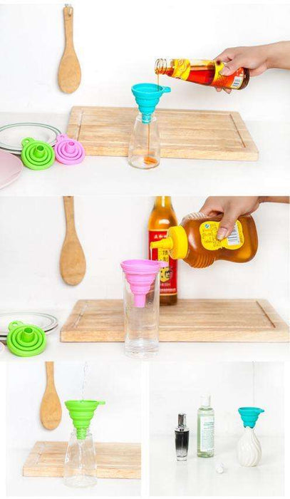Silicone Gel Practical Collapsible Foldable Funnel Hopper Kitchen Tool Gadget - Gadget World