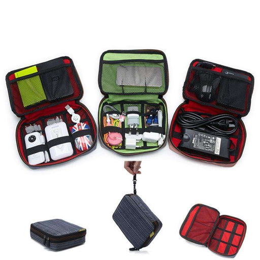 Travel Organizer Storage Collection Bag Case Pouch Digital Gadget Cable Adapter - Gadget World