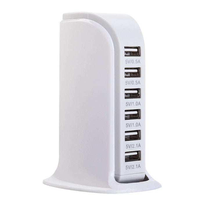 USB Charging Station Hub 30W 5 Port USB Wall Charger Power Adapter - Gadget World