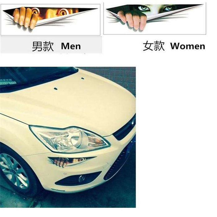 Practical 43*13cm Funny Car Sticker 3D Eyes Peeking Monster Voyeur Car Hoods - Gadget World