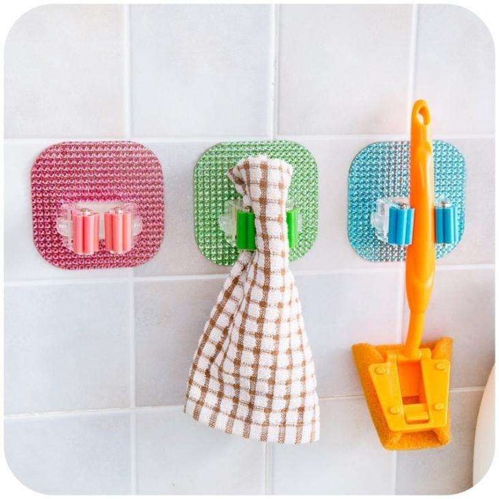 Creative Mop Broom Hooks Seamless Creative Door Hanger Strong Broom Stick Wall Hook - Gadget World