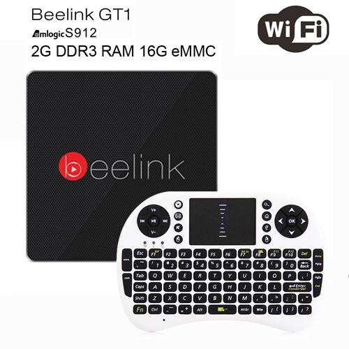 Beelink GT1 Android 6.0 TV Box 2GB RAM 16GB ROM Amlogic S912 Octa Core H.265 4K 2.4G/5.8G Dual WiFi Bluetooth 4.0 Media Player - Gadget World