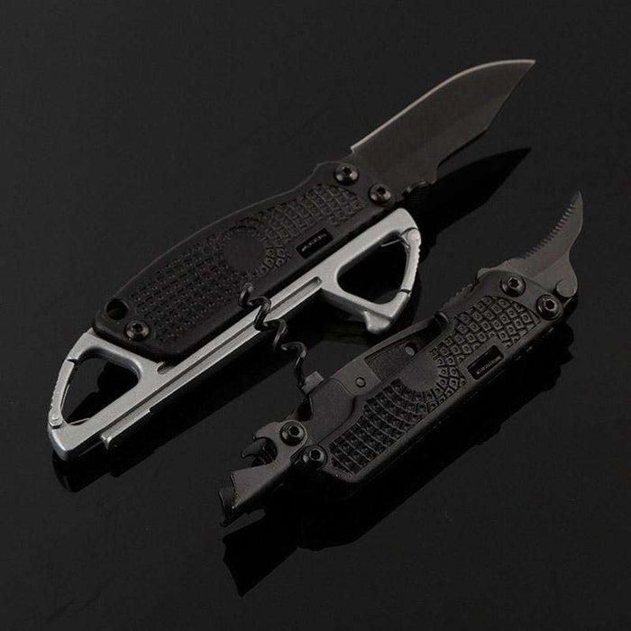Survival Detachable Foldable Multi-Tool Set Corkscrew Opener Saw Climbing Carabiner Hiking - Gadget World