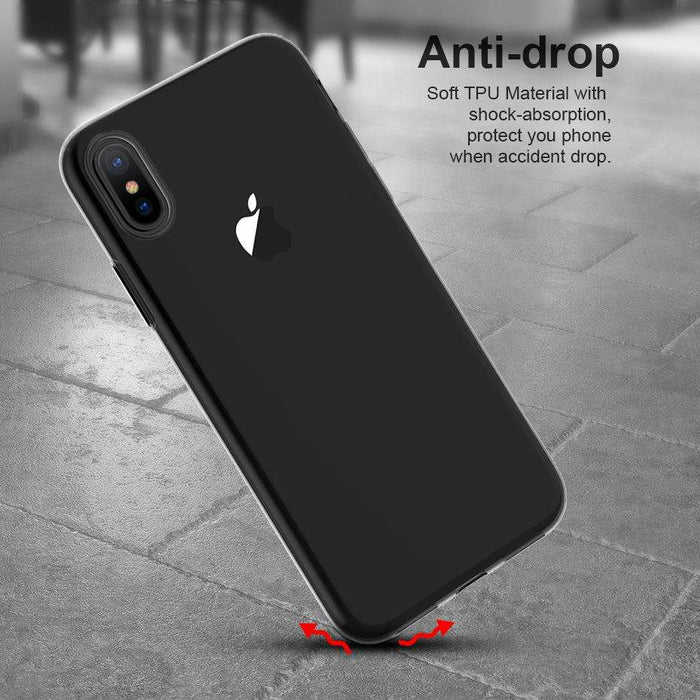 ICONFLANG Soft TPU Transparent Case For iPhone X - Gadget World