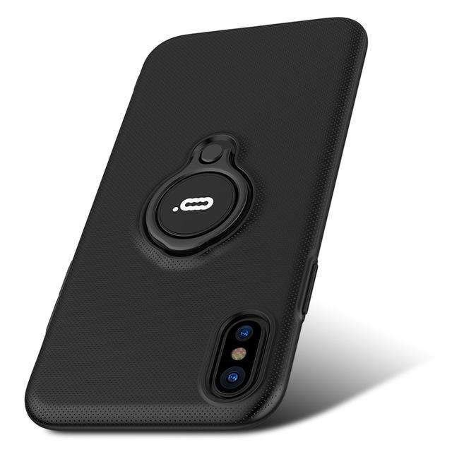 ICONFLANG Hybrid Case For iPhone X Car Magnetic Shockproof Cover - Gadget World
