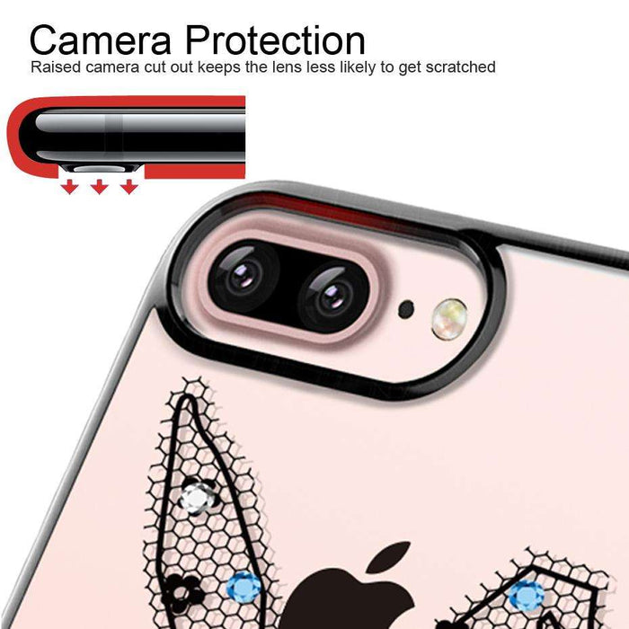ICONFLANG Diamond Cases for iPhone 7 and 7 Plus With Swarovski Coloured Diamonds - Gadget World
