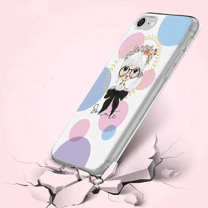 ICONFLANG Phone Back Shell For iPhone 7 and 7 Plus Printing Painted Phone Capa - Gadget World