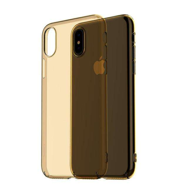 ICONFLANG Transparent Ultra Slim PC Hard Full Phone Back Capa For iPhone X - Gadget World