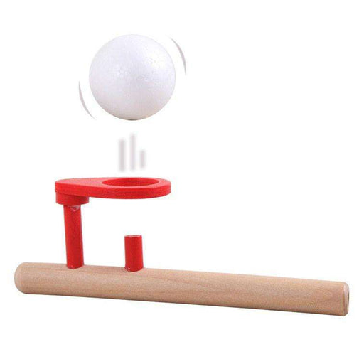Wood Wooden Ball Blower Oral Motor Speech Therapy Autism Training Classic Toy - Gadget World