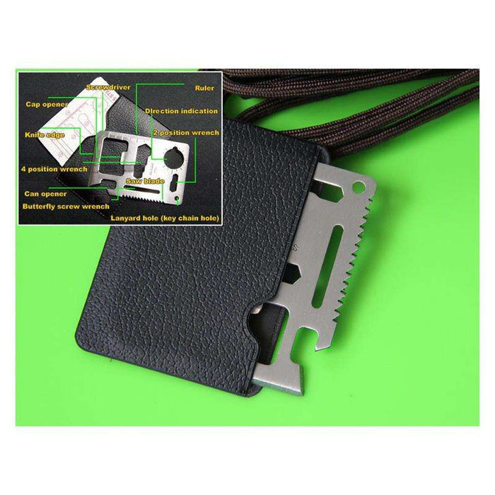 Credit Card Tool with Direction Indication Ruler Screw Driver Opener - Gadget World