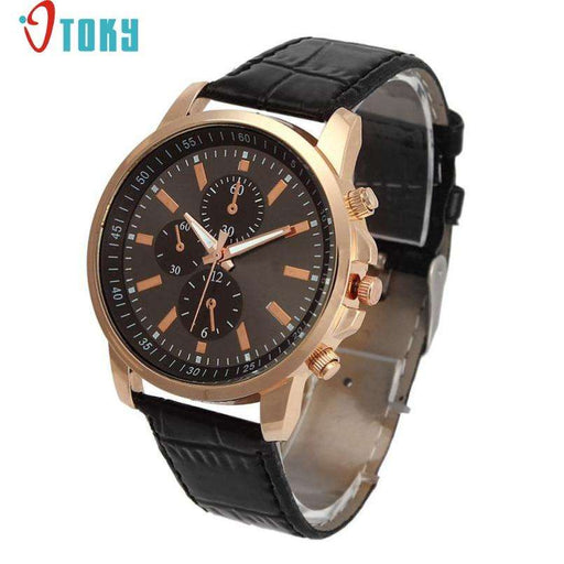Excellent Quality OTOKY Luxury Quartz Watches Men's Fashion Geneva Quartz Clock Leather Strap Wristwatches Relogio Masculino - Gadget World