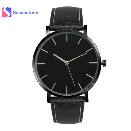 Relogio feminino Business Quartz Wrist Watches Men Women Watch Fashion Gold Faux Leather Band Female clock Saat erkekler 2017 - Gadget World
