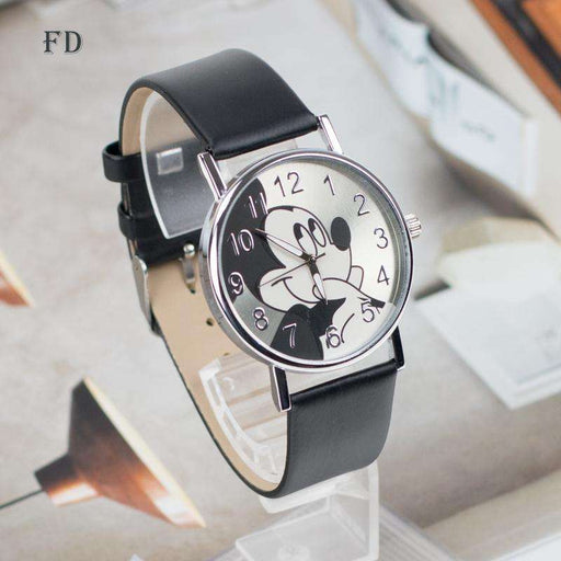 FD Fashion mickey mouse Pattern Women Watch Leather Strap Quartz Watches Women Clock 2017 Hot Casual Wristwatch relogio feminino - Gadget World