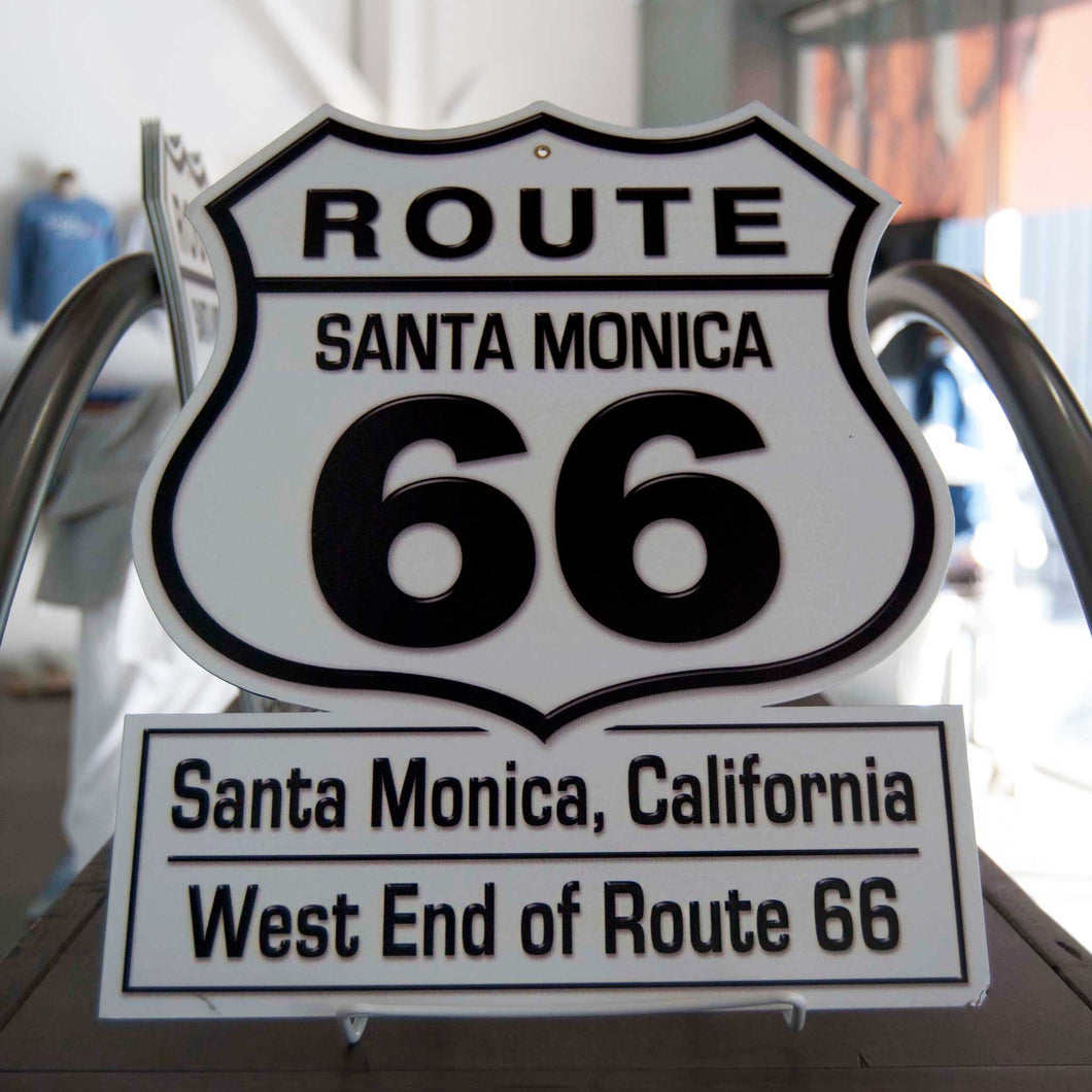 Route 66 Santa Monica Metal Sign