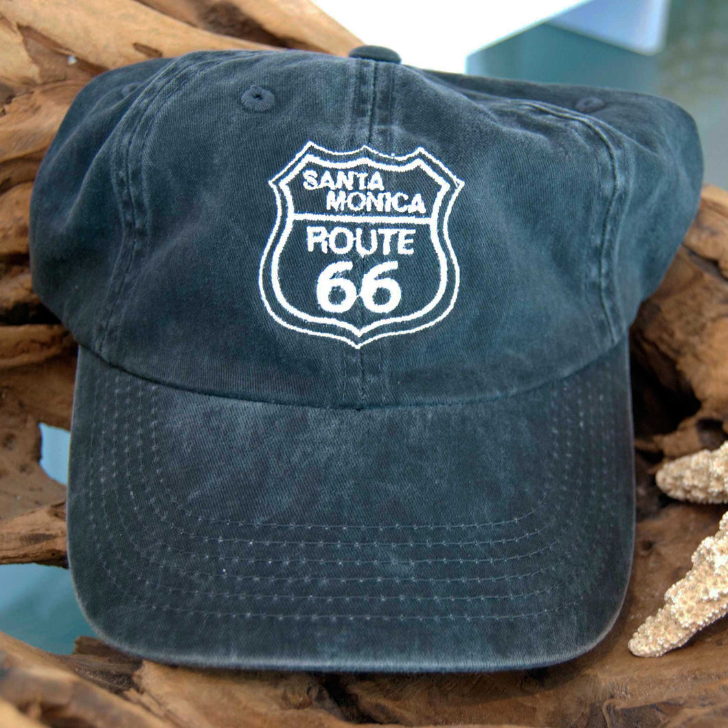Route 66 Santa Monica Adult Hat - Black