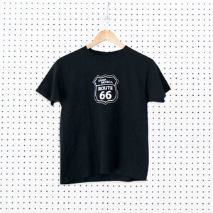 Route 66 Santa Monica Youth T-shirt - Black