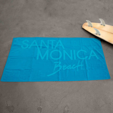 Santa Monica Beach Towel - Neon Blue