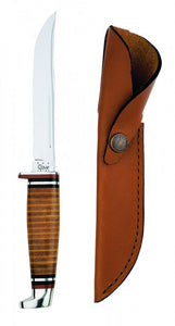 Case Leather 5 Inch Utility Hunter with Leather Sheath No. 00381 - Matarow