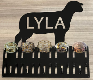 Belt Buckle and Ribbon Holder -  Show Lamb