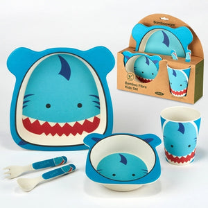 Bamboo 5 pc Childrens Dinnerware Set - Matarow