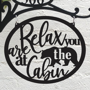 Relax You are at the Cabin Interchangeable Metal Disc - Matarow