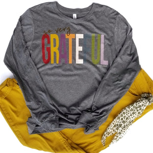 So Very Grateful Vintage Boyfriend Long Sleeve