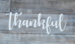 Thankful - Word - Matarow