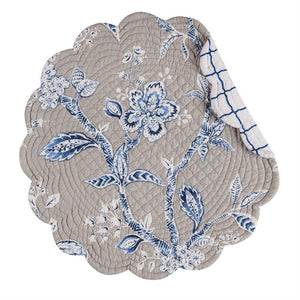 Annabelle Blue Placemat and Napkins - Matarow