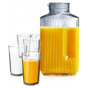 Juice Glassware Jug and Glass Set - Matarow