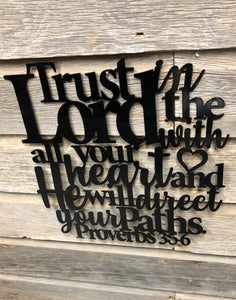 Trust in the Lord Proverbs 3:5-6 - Matarow
