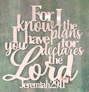 For I know the plans Jeremiah 29:11 - Matarow