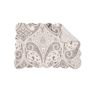 Nazima Gray Placemat and Napkins - Matarow