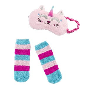 Faux Fur Sleep Mask & Sock Set - Matarow