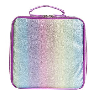 Pink Striped Glitter Lunch box - Matarow