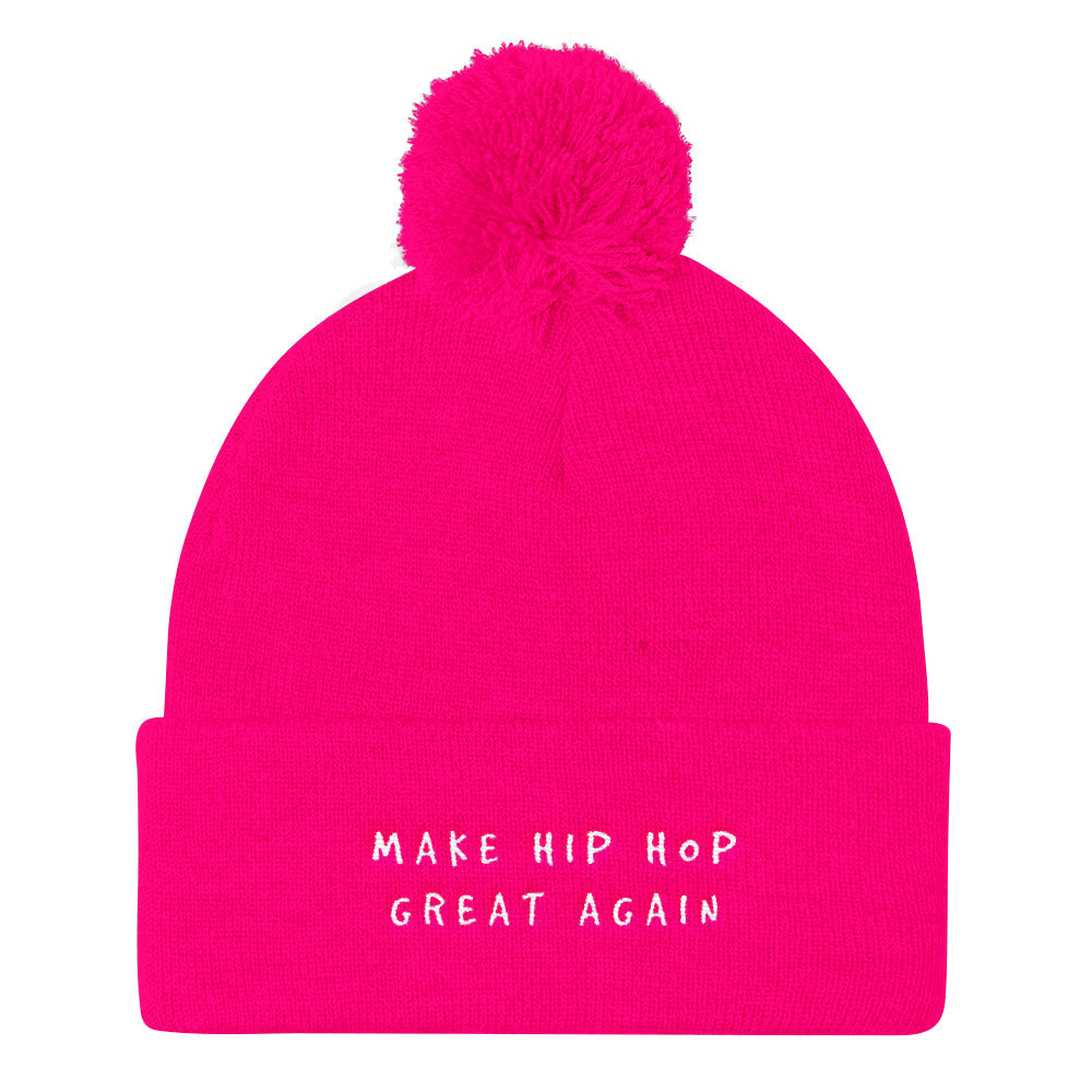MAKE HIP HOP GREAT AGAIN Pom Pom Hat . ShopTLMBrand.com