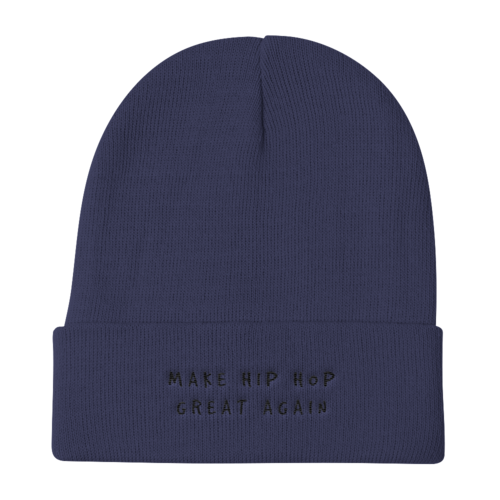 MAKE HIP HOP GREAT AGAIN Knit Beanie : BLACK Embroidery . ShopTLMBrand.com