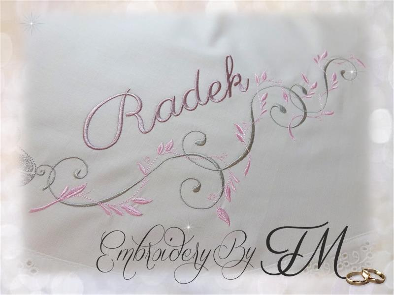 Wedding embroidery designs/6 variations and different size hoops ( Of course, the design doesn't contain names.)