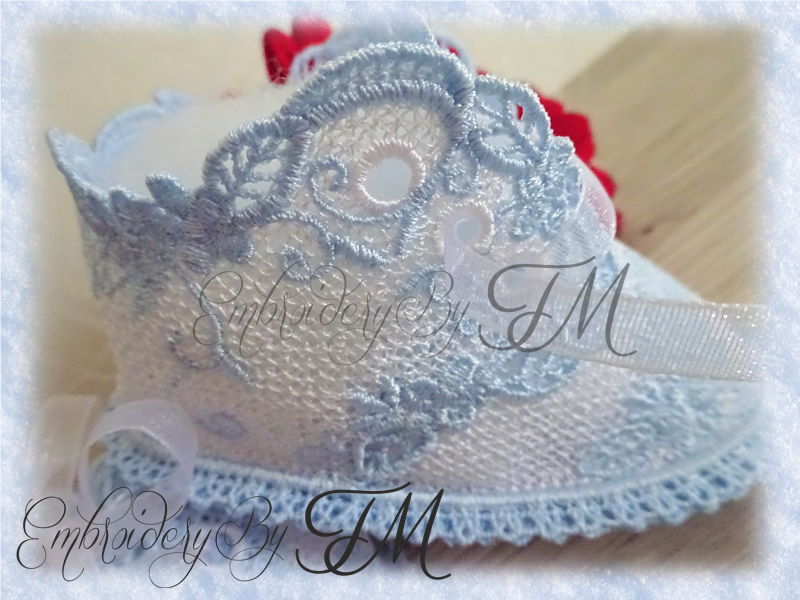 Baby booties lace No.50/ 5x7 hoop